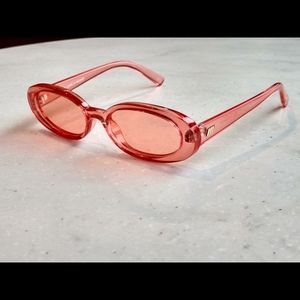 Le Specs OUTTA LOVE. sunglasses oval pink